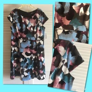 (O) Black Floral Bodycon Midi Dress XL